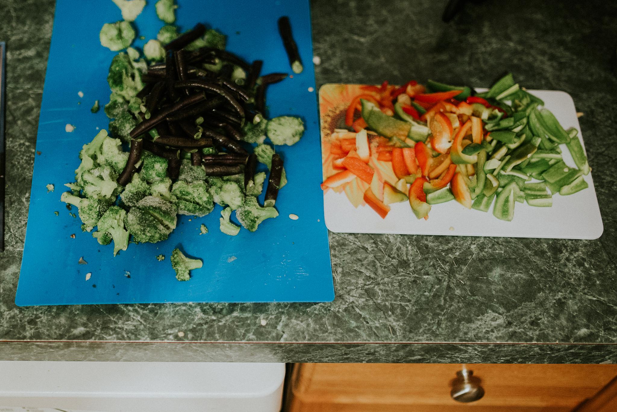 October 23: Post-wedding weekend eating all the veggies.