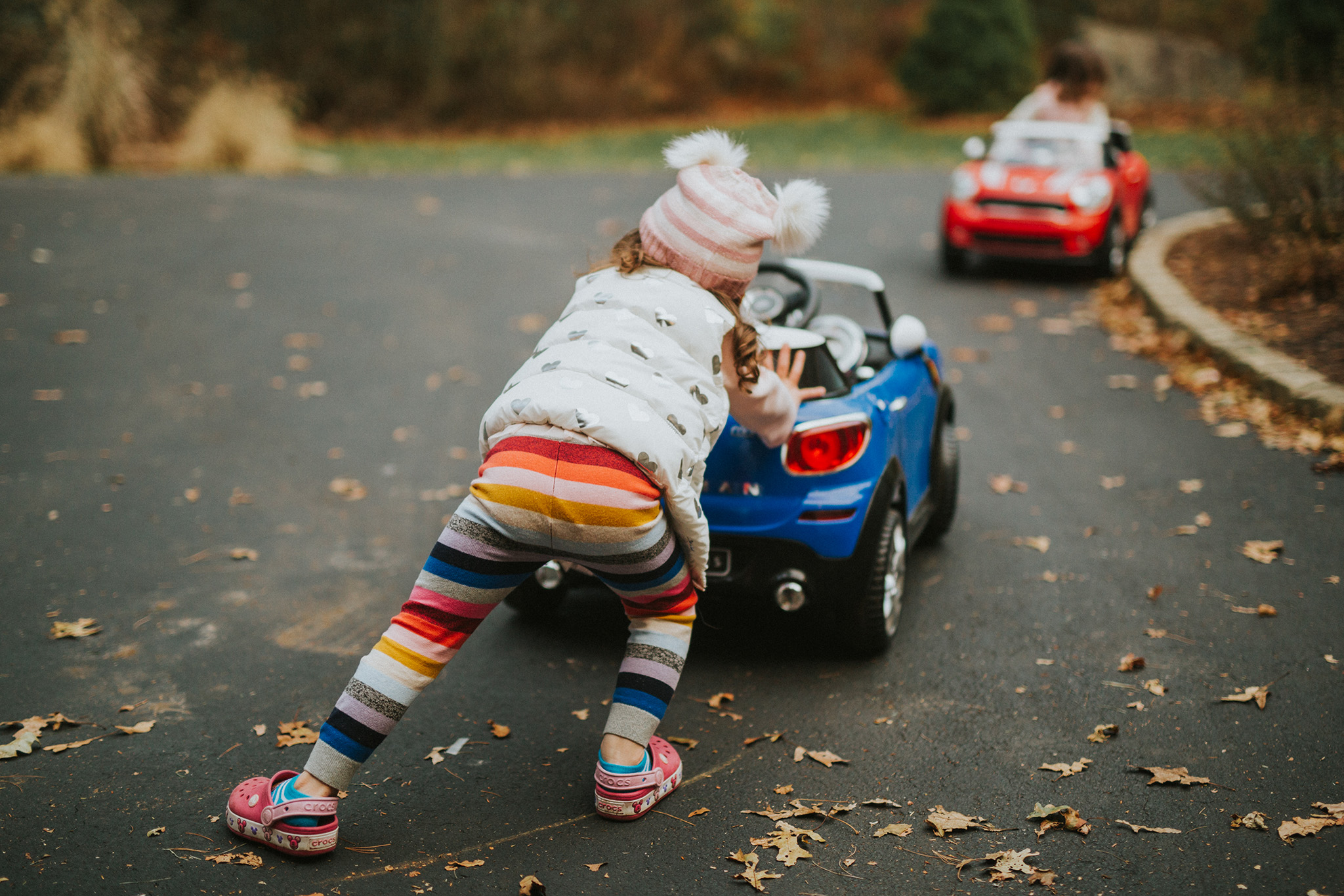 November 25: Let's talk about stripe-y tights and car probz.
