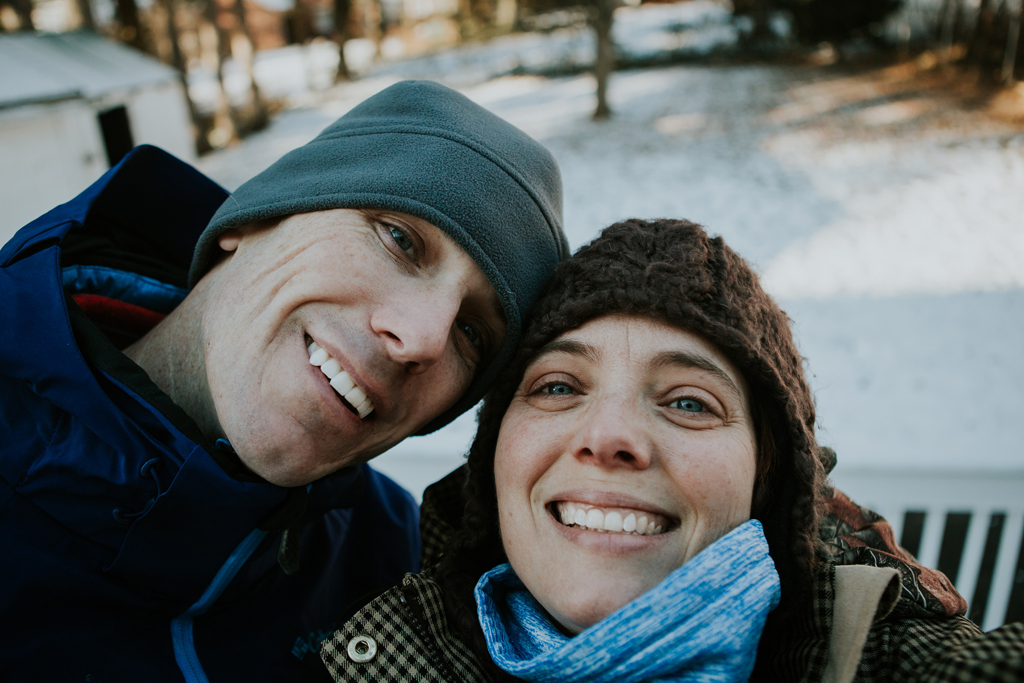 January 1: New Year's selfie after a frigid walk with my favorite.