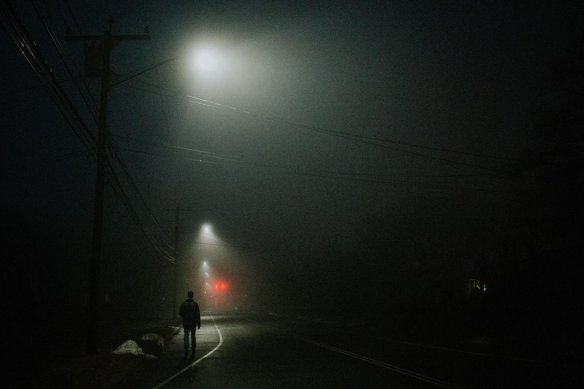 January 23: The eeriest foggy walk.