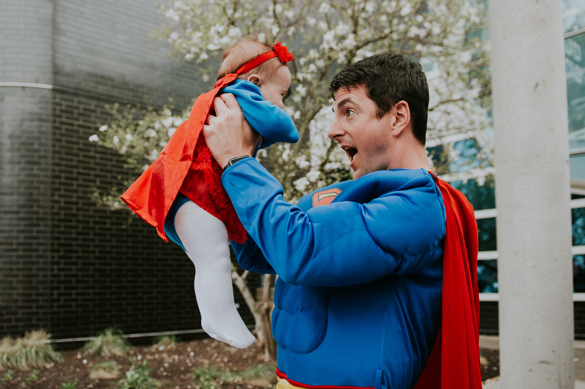 April 27: Superhero Day at work, and my first fresh 48 client in Connecticut teamed up with one of our docs.
