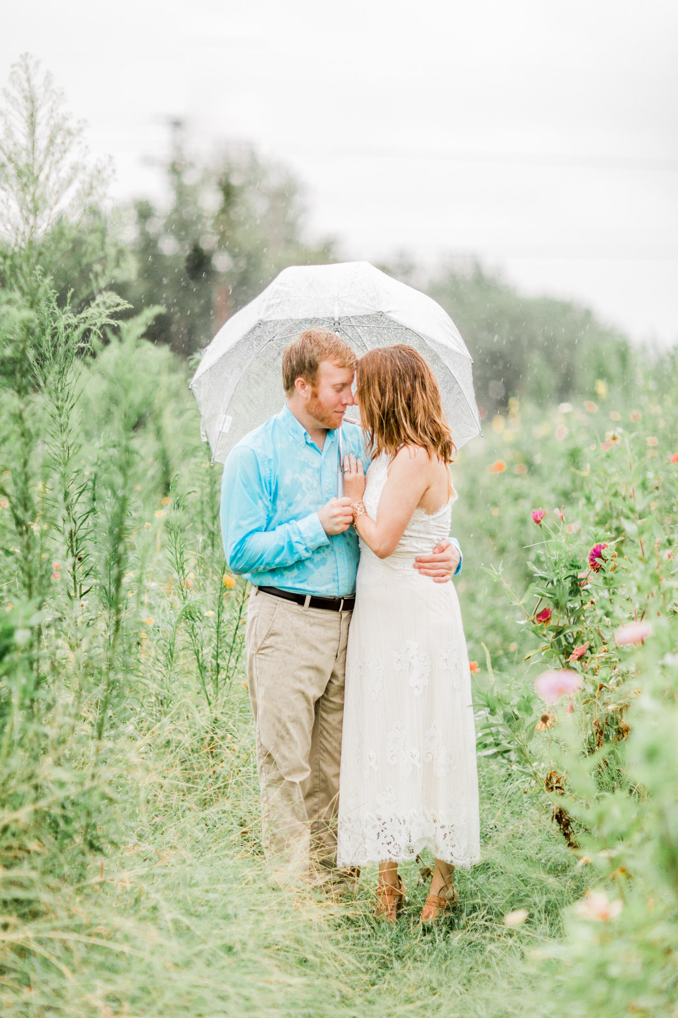 Wichita Falls, TX Engagement Photos - Garden Photography
