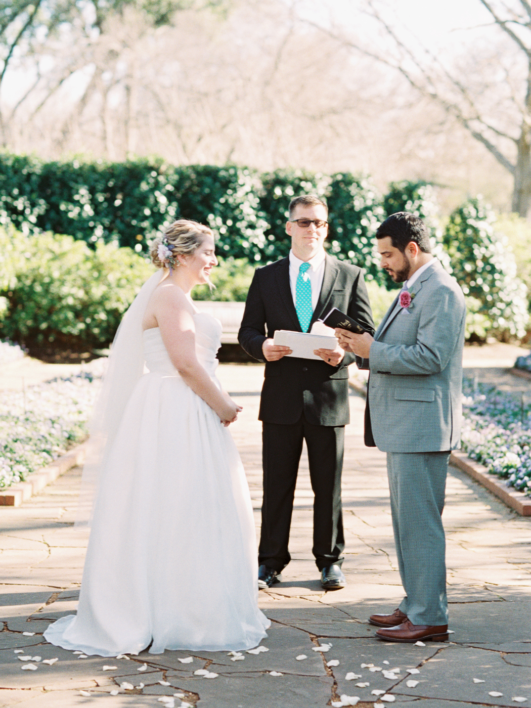 Dallas Arboretum & Botanical Garden Wedding Photos - Fine Art Film Photography