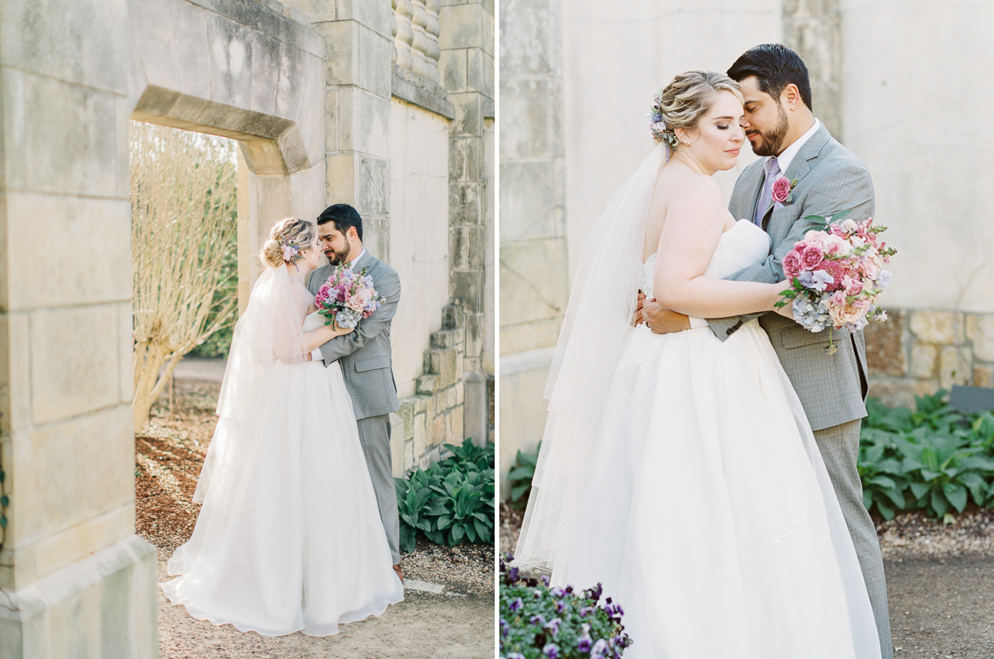 Dallas Arboretum & Botanical Garden Wedding Photos - Fine Art Film Photography