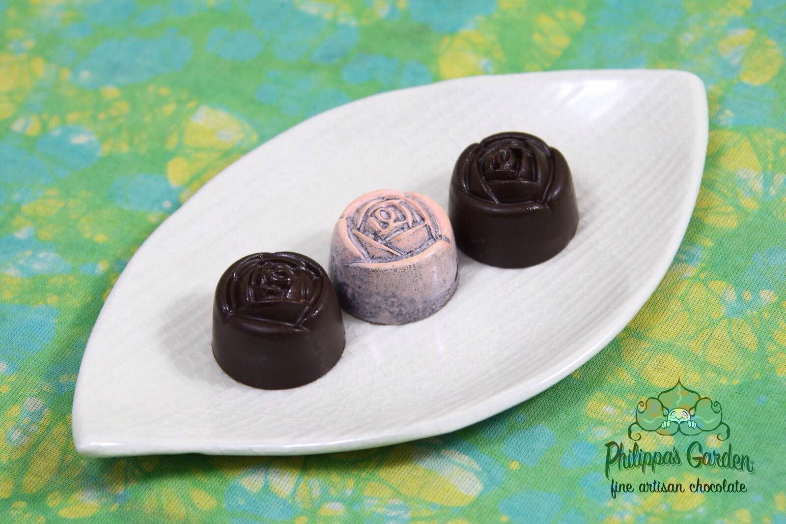 Airbrushed Dark Chocolate Rose.JPG