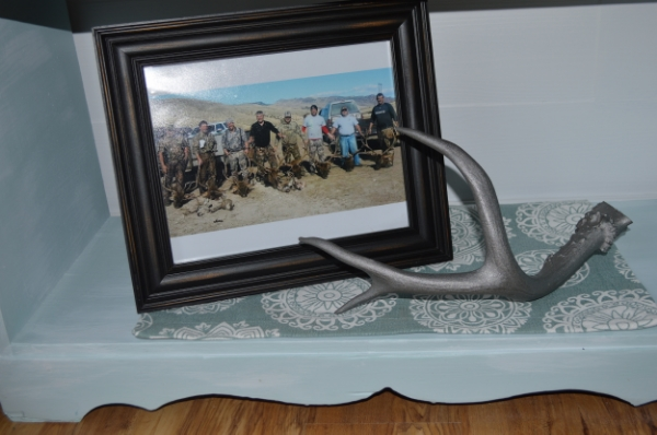 spray paint deer horn to add a splash of style