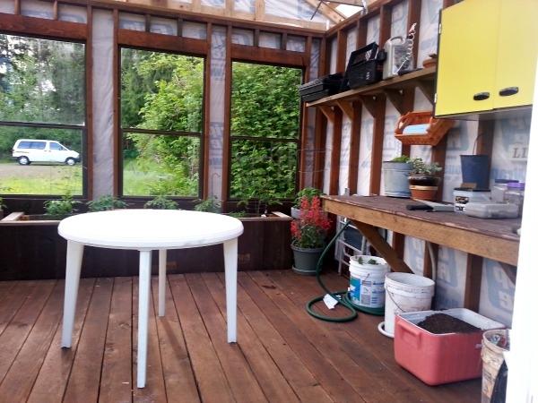 greenhouse potting table