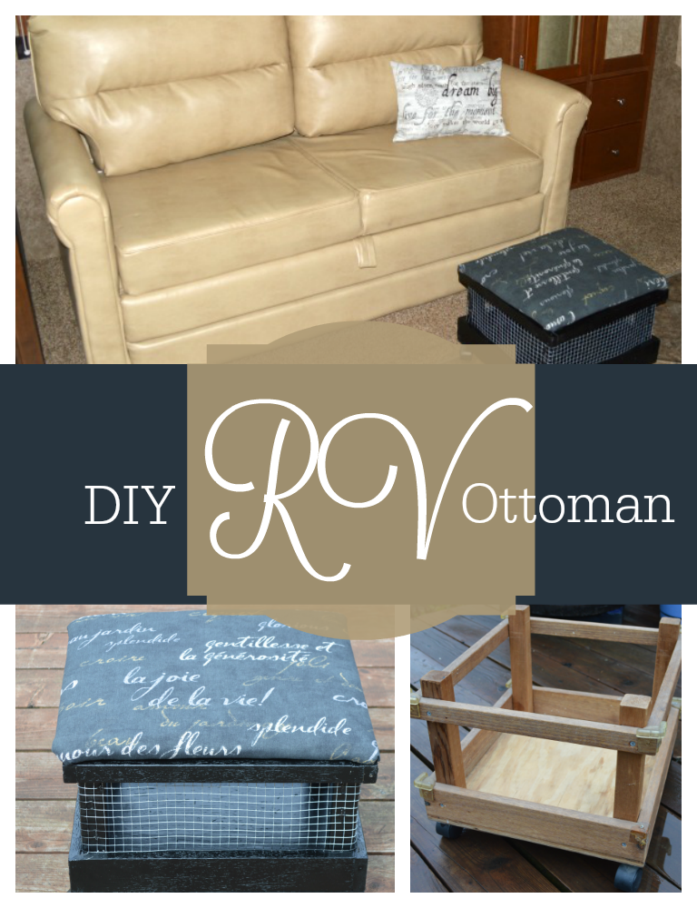 How to make your own RV ottoman that doesn't break the bank
