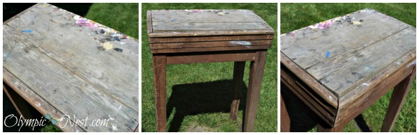 craft table gets renovated into an outdoor kitchen-table