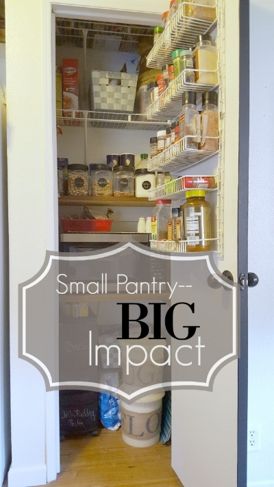 small pantry DIY wood shelves