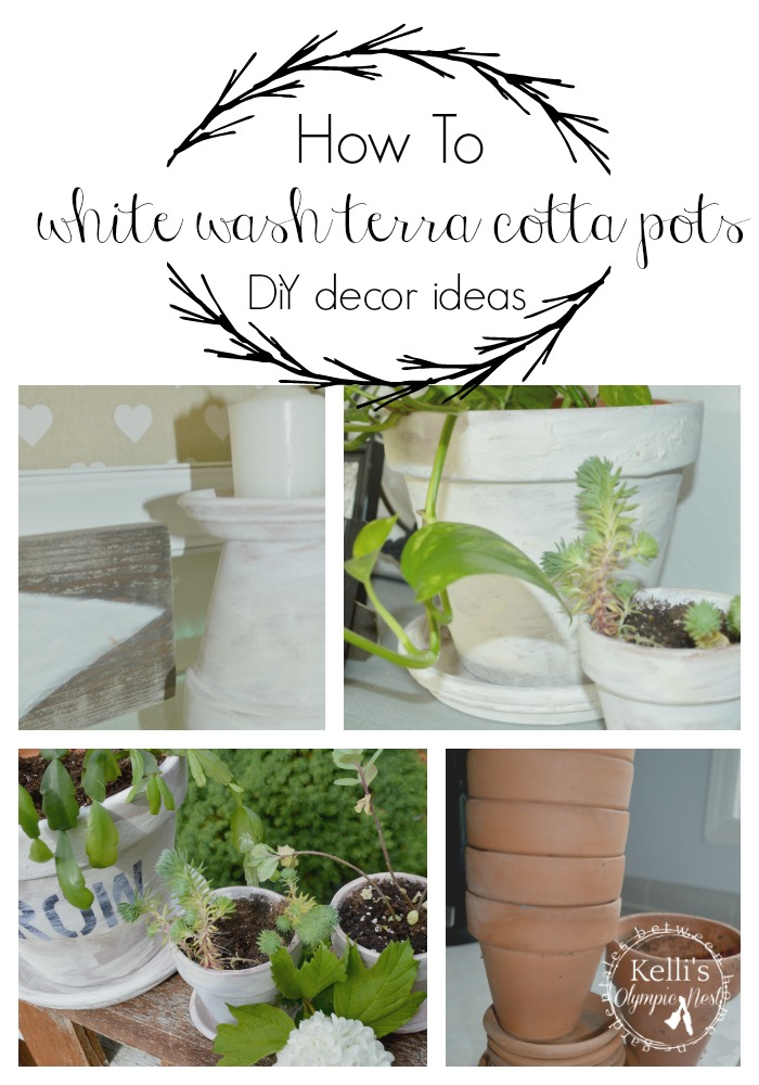 add farm style decor using terra cotta pots #homedecor #pinterestchallenge #farmstyle.jpg
