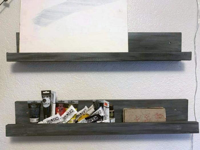 how to make shelves from scrap wood materials #apartmentthearapy #diyshelves #scrapwood.jpg