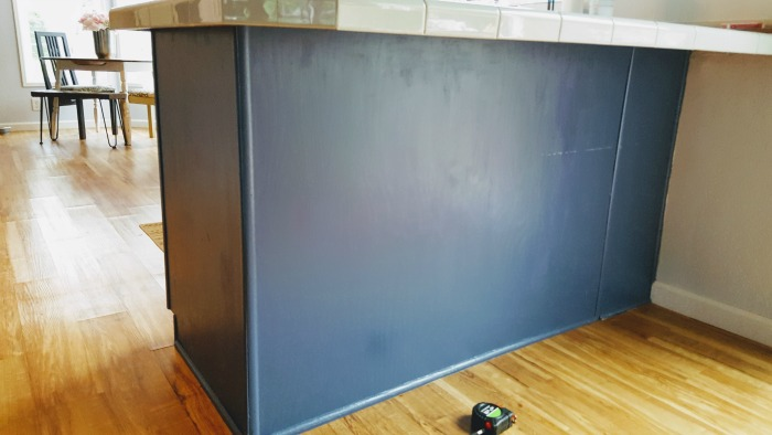Step by step tutorial for how to add board and batten to kitchen peninsula.jpg