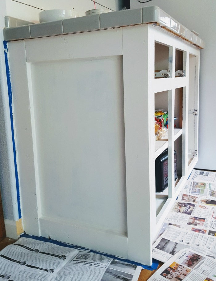 How to customize builder grade ends of your kitchen base cabinets.jpg