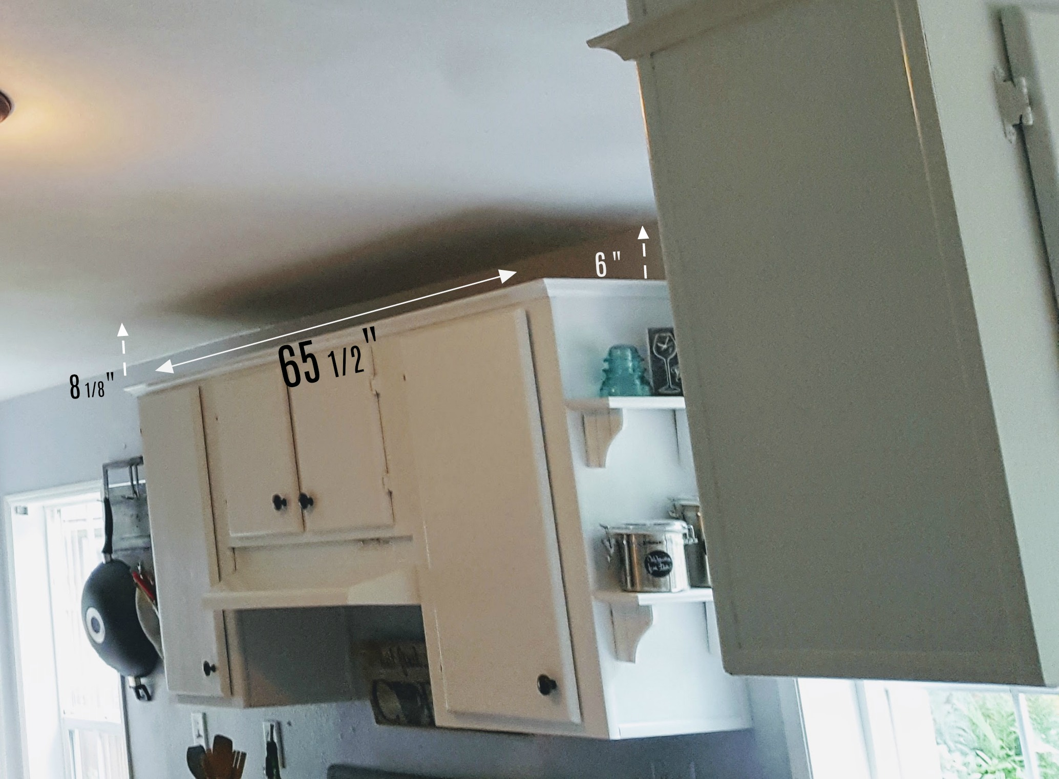 tips for extending kitchen cabinets with a sloped ceiling.jpg