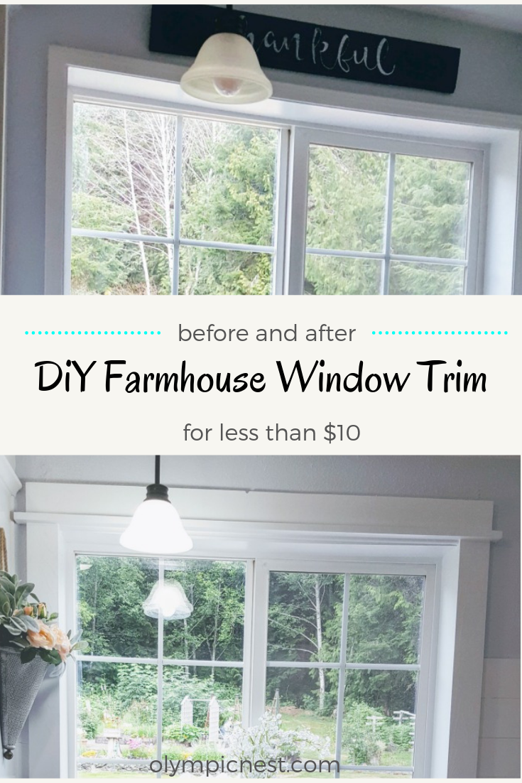 how to upgrade kitchen window with trim #farmhousekitchenwindow #diy #kitchenmakeover.png