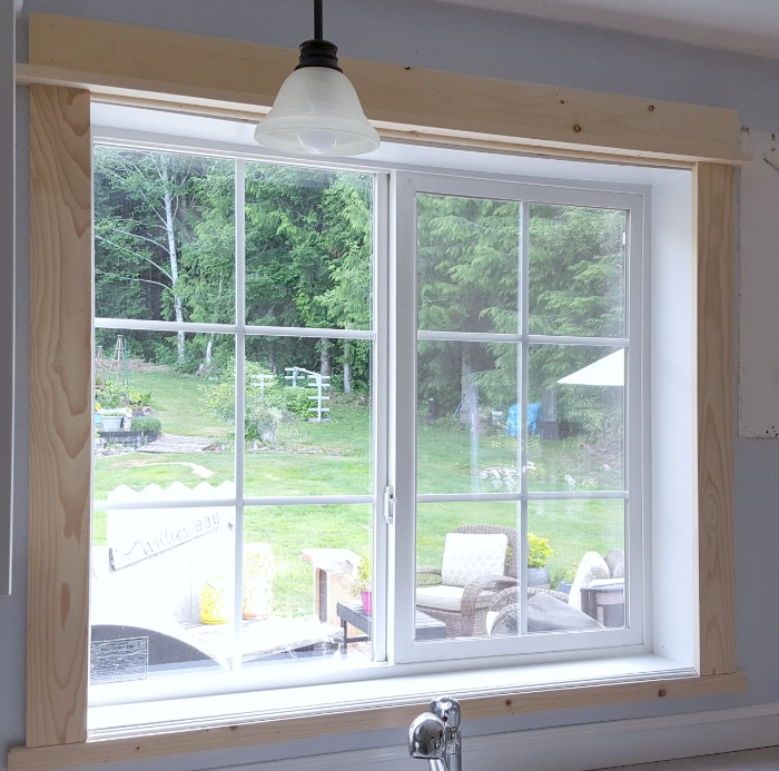 how to upgrade kitchen window trim on a budget.jpg