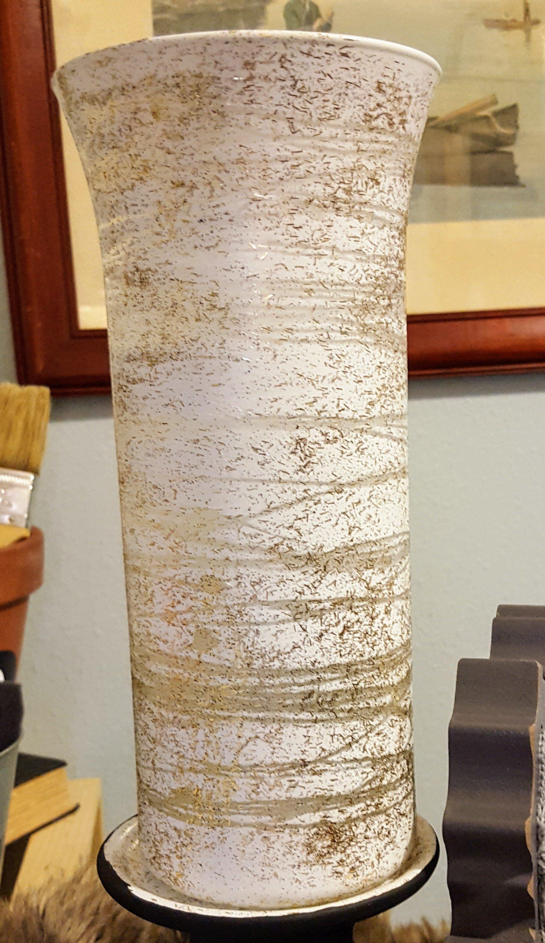 Dollar Tree Hack Diy Glass Vase Turned Into Glam Hurricane Candle Holder K S Olympic Nest