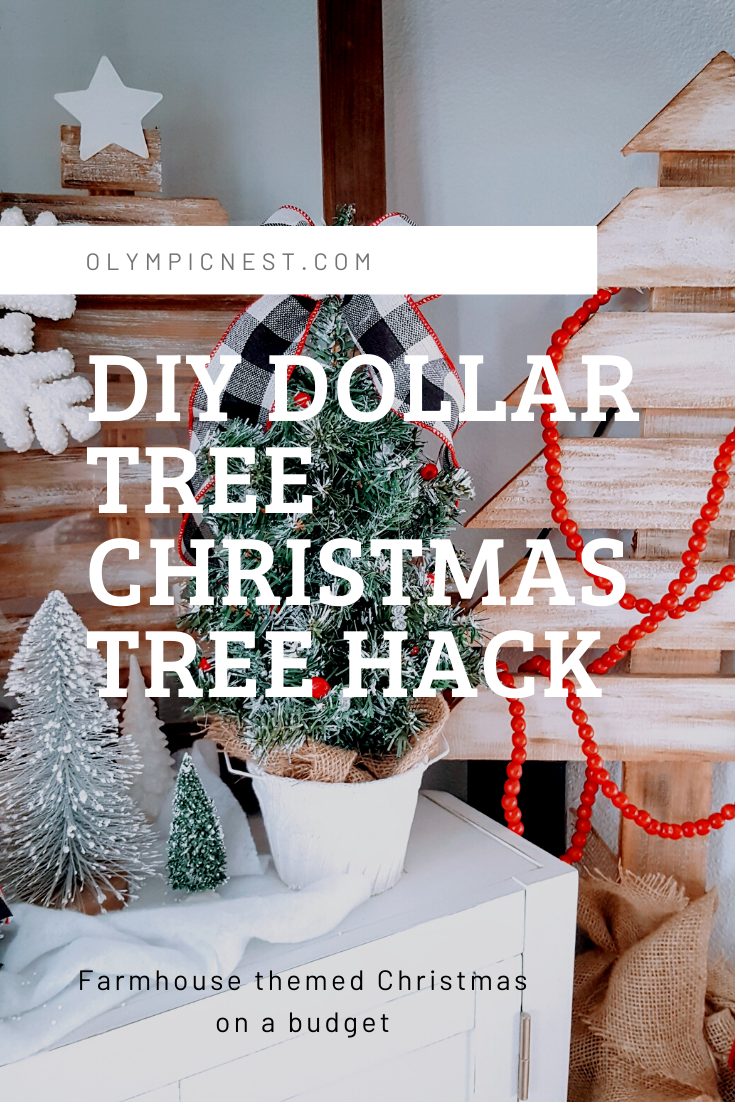 Dollar Tree Christmas Tree Hack Creating A Farmhouse Buffalo Check Christmas K S Olympic Nest