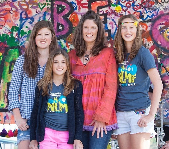 Patti and her three daughters.