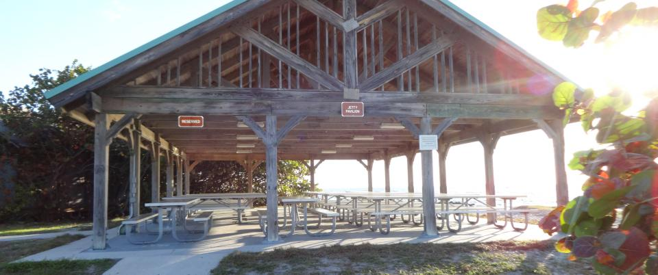 Jetty Picnic Pavilion at Mizell-Johnson State Park