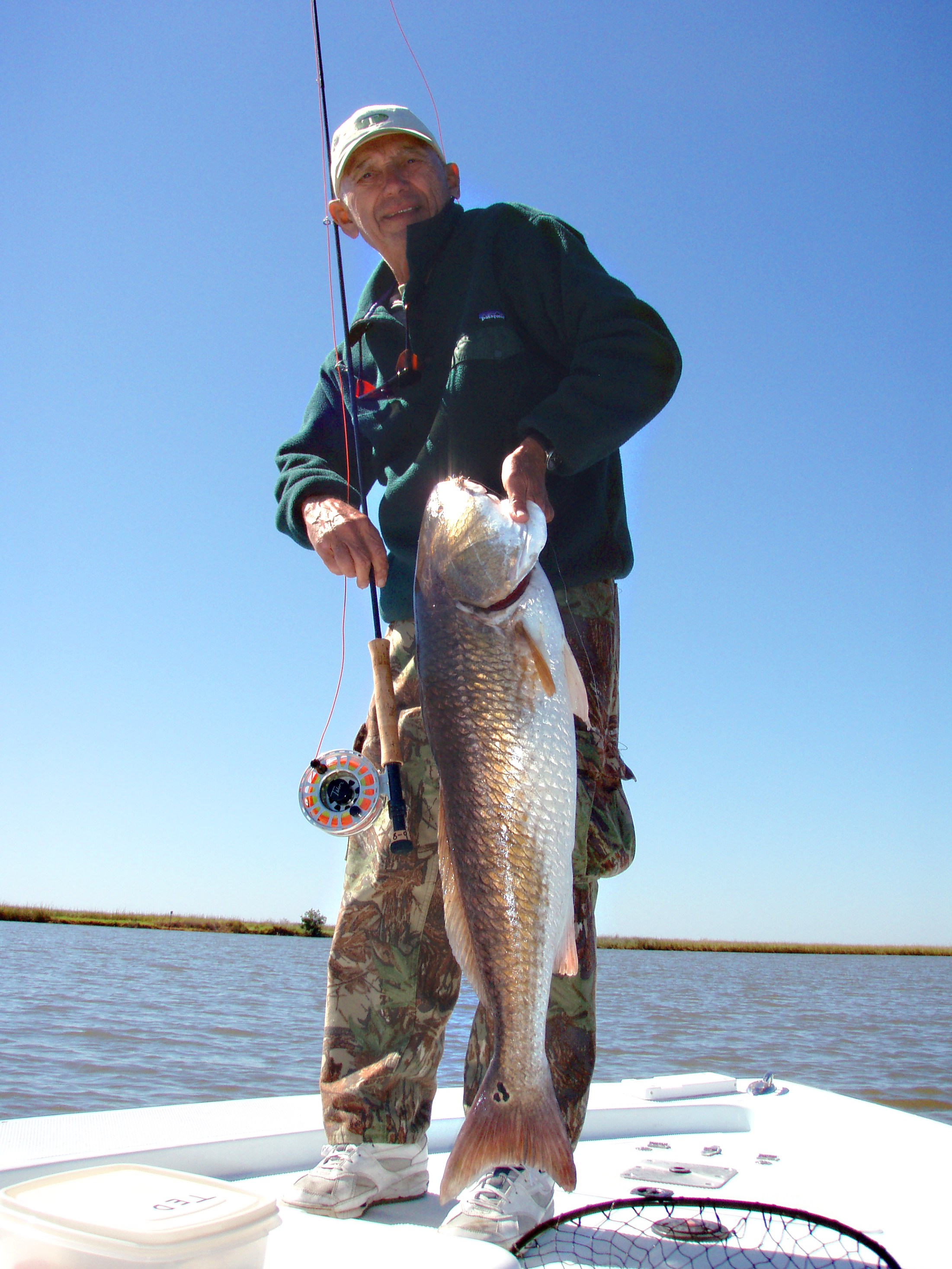 Tibor with a large redfish.
