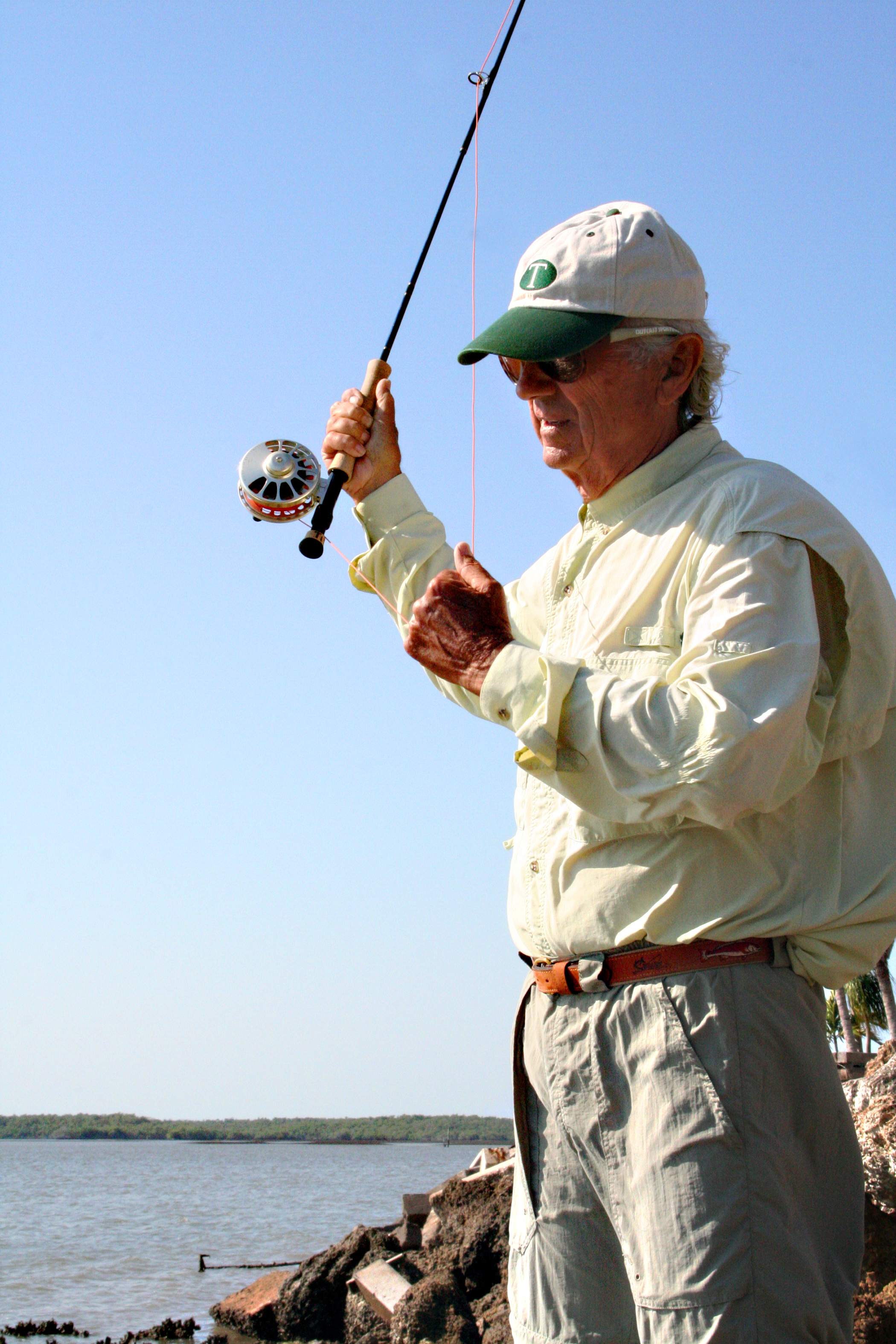 Tibor enjoying some fishing time with one of his reels