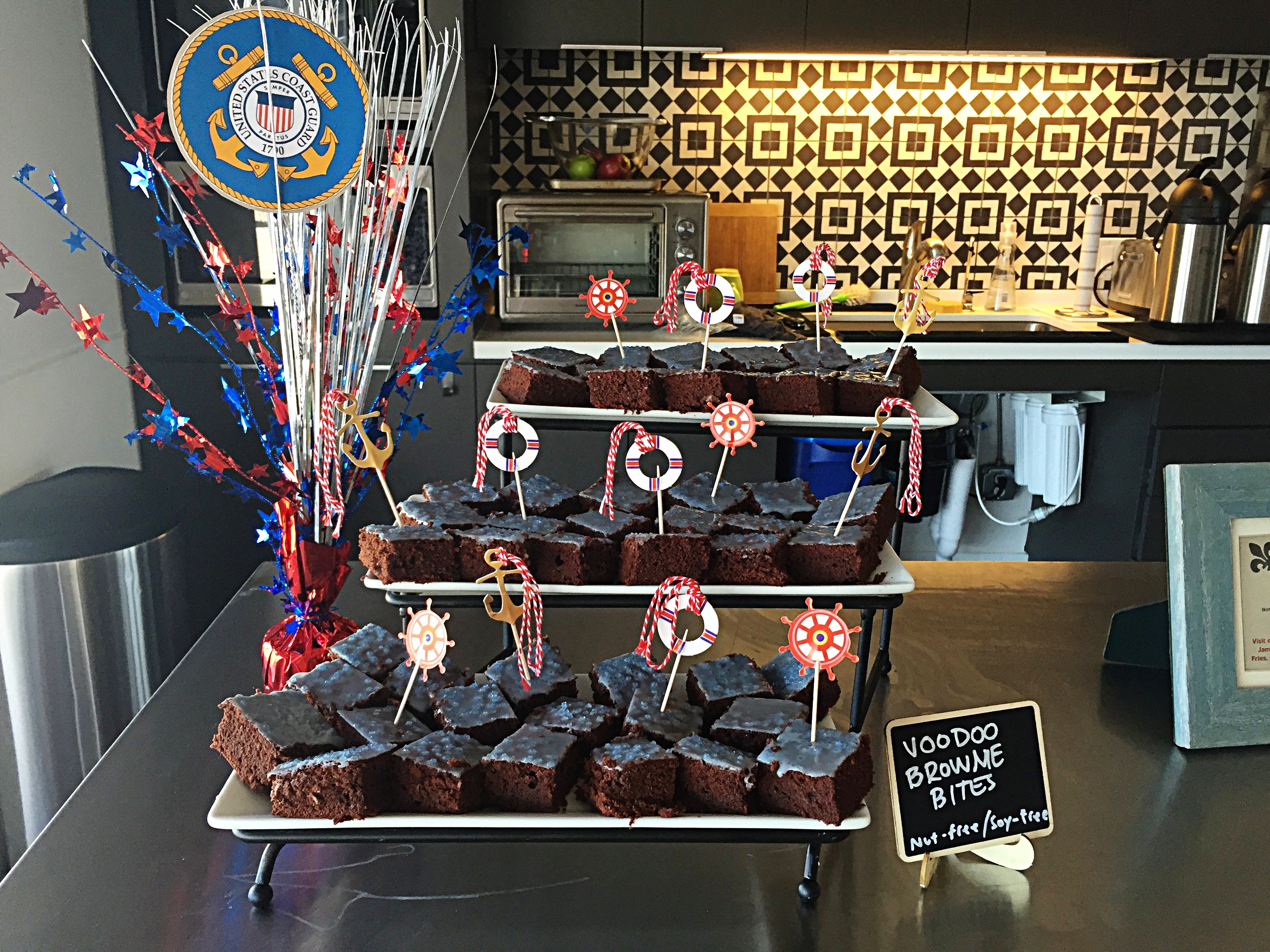 Custom brownies created for PETA were the inspiration behind our 4th of July Voodoo Brownies!