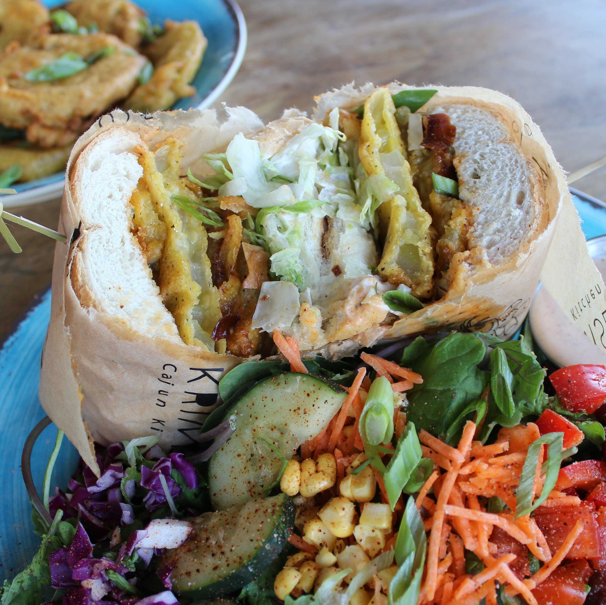 Fried Green Tomato Poboy