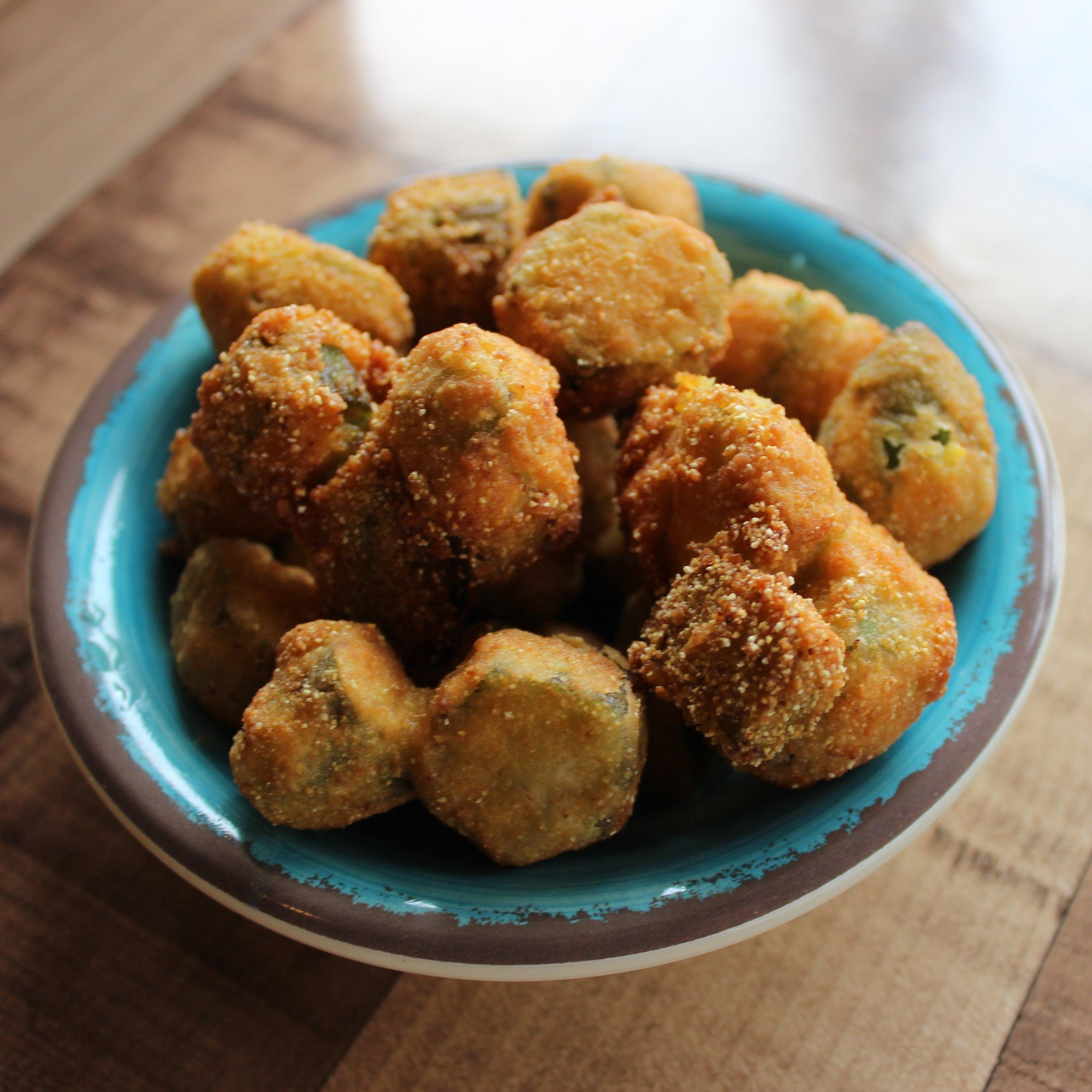 Golden Fried Okra + Ranch