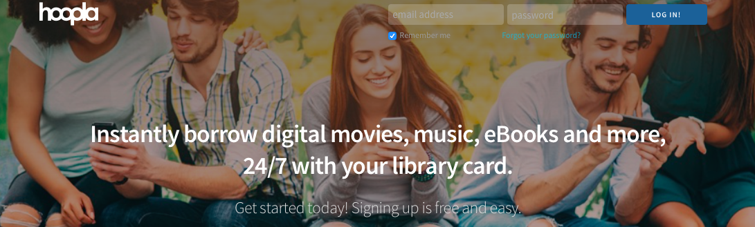Check out this free library app for your phone and tablet. Check out ebooks, audio books, and movies!