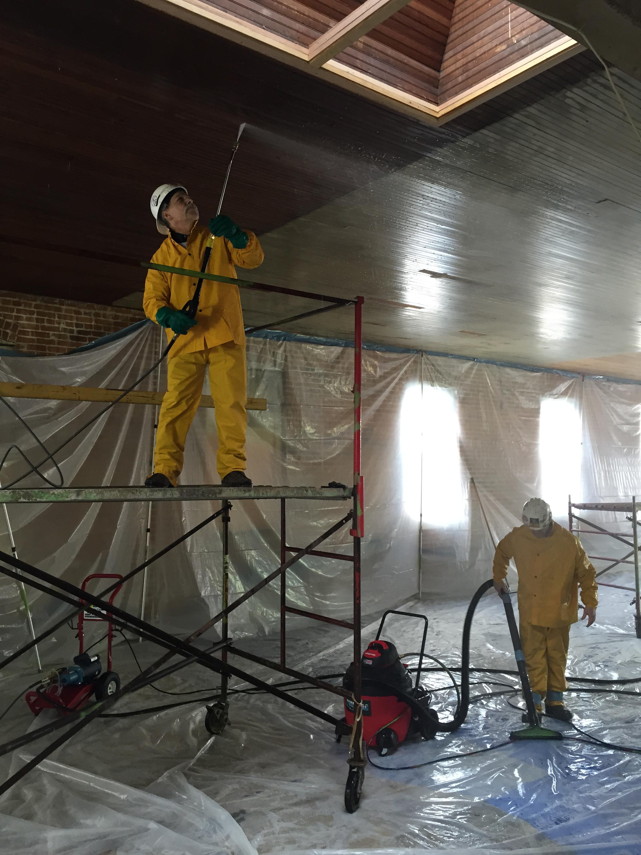 Some of the restoration efforts underway.