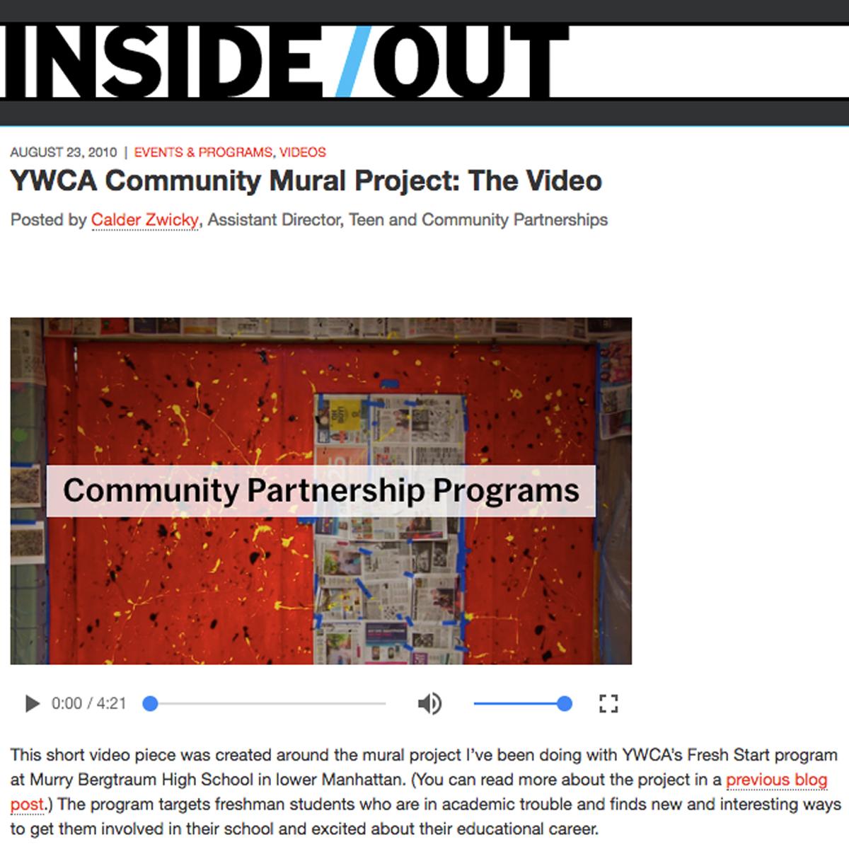 YWCA Community Mural Project