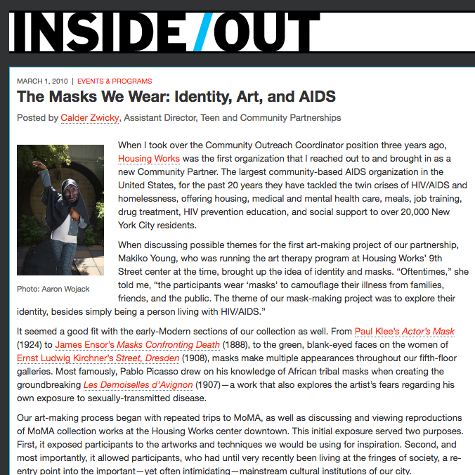 The Masks We Wear: Identity, Art, and AIDS