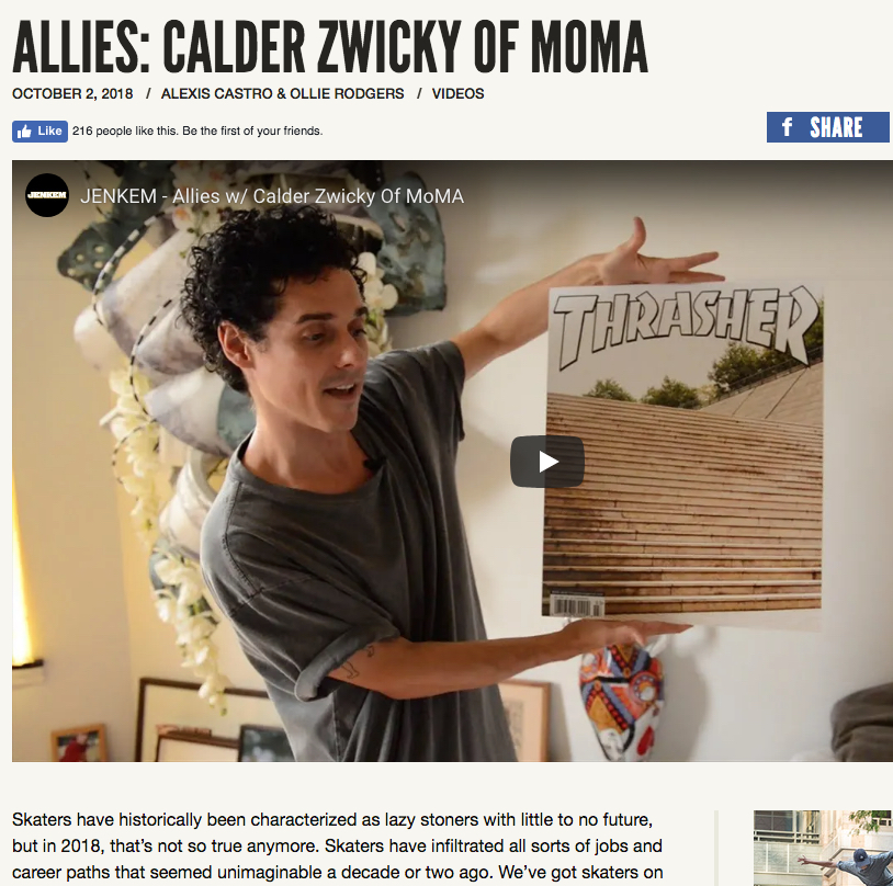 Allies: Calder Zwicky of MoMA