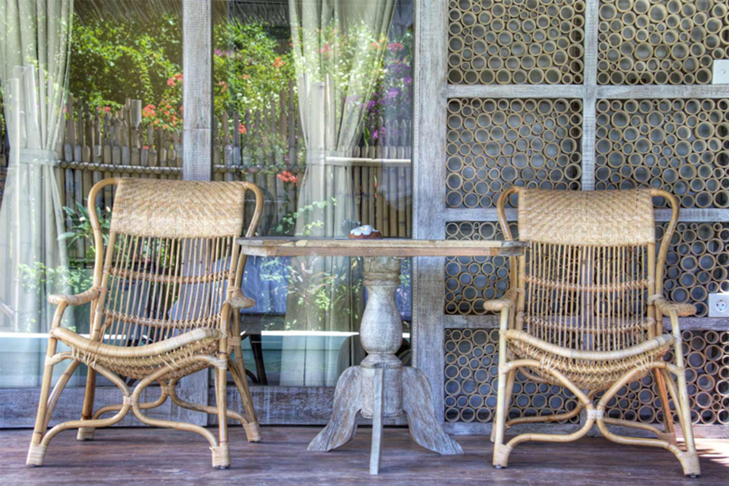 villa hotel Terrace in gili islands
