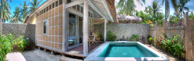 Villa superior in Gili with pool