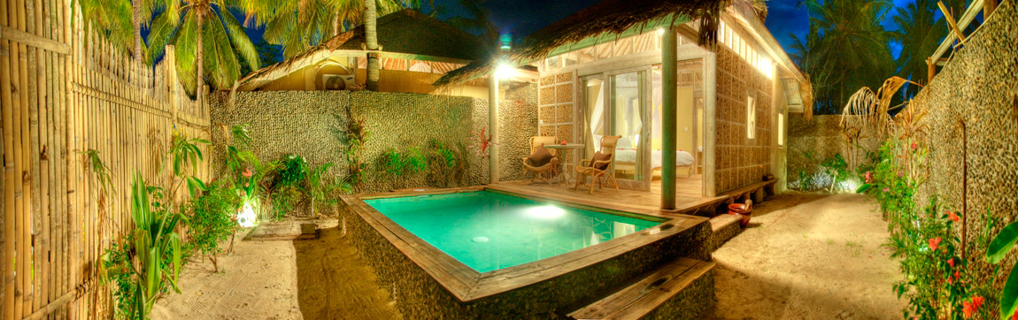 Villa gili Trawangan 1 bedroom by night