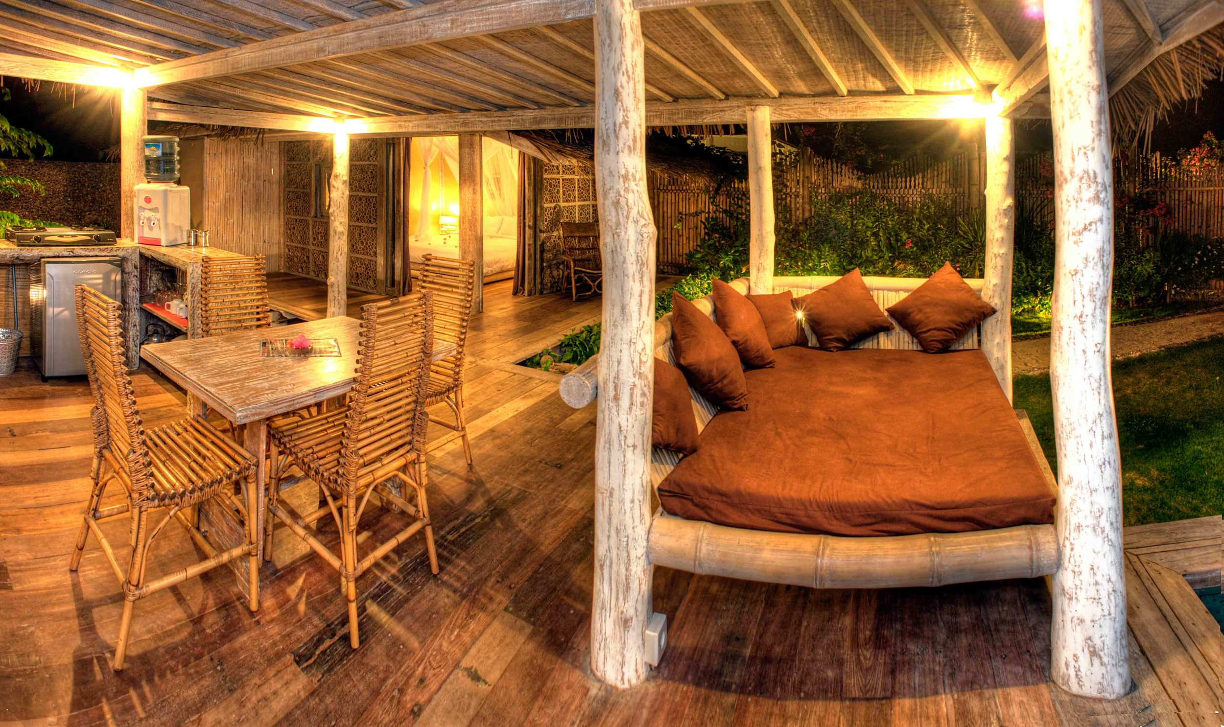 living room villa gili trawangan