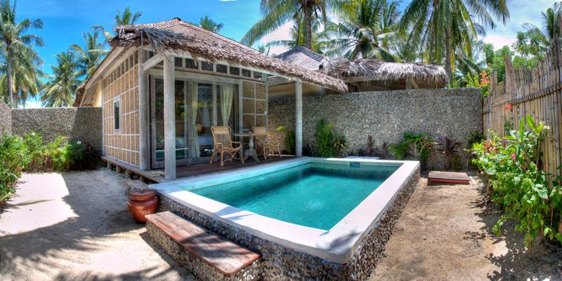 Villa private pool and garden in gili