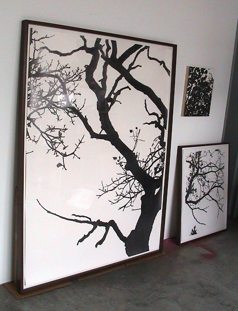 "Dawn , 2002 Pencil on watercolor paper 70"" x 50"" in studio SOLD"