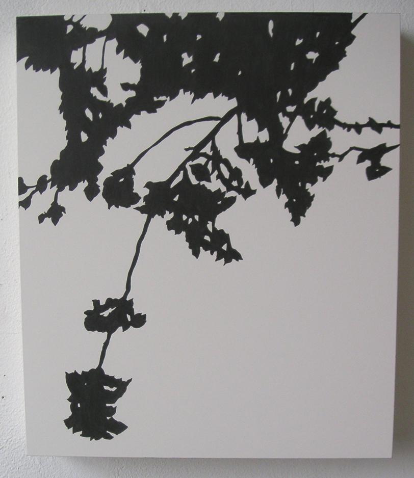 "Kanzan 03 , 2005 Pencil on clayboard panel 14"" x 12"" SOLD"