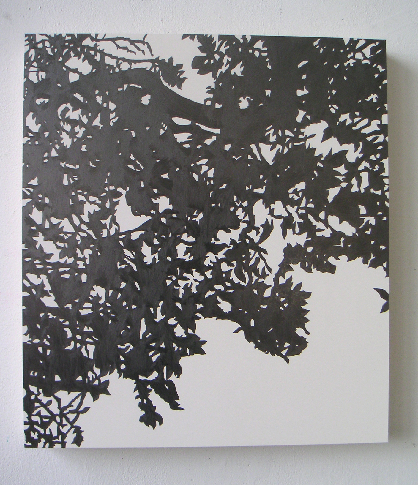 "Shogetsu (03), 2005 Pencil on clayboard panel 20"" x 16"" SOLD"