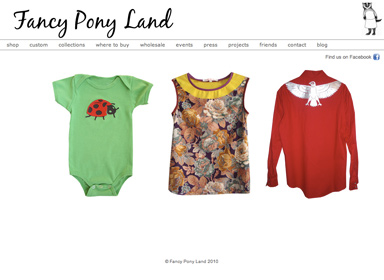 Fancy Pony Land  Website design and production