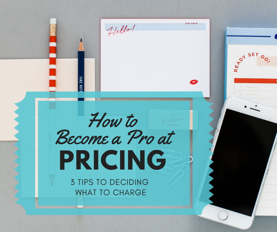 You can definitely become a pro at pricing.