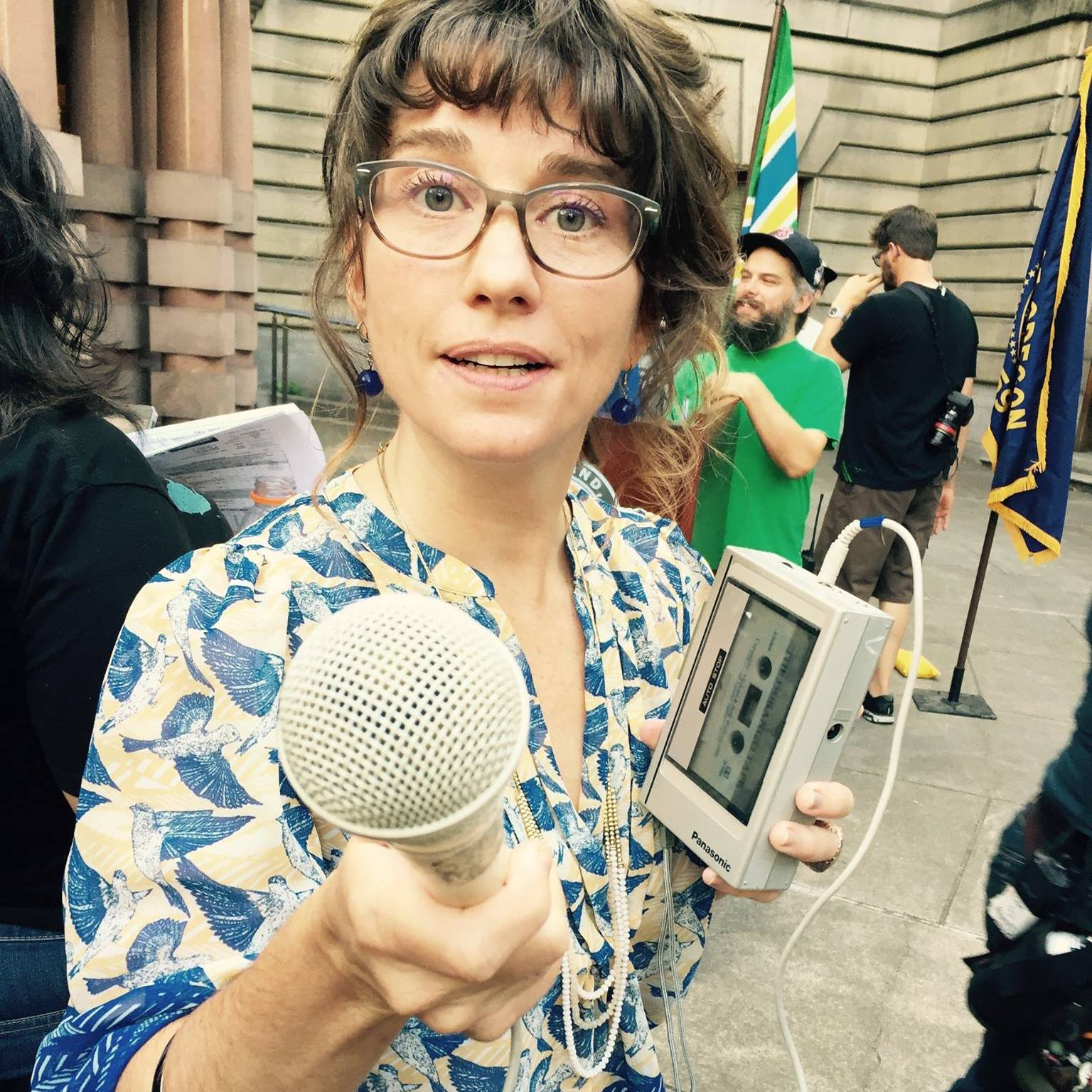 Photo from being an reporter as an Extra on set of the TV comedy PORTLANDIA on IFC, Season 6, August 2015