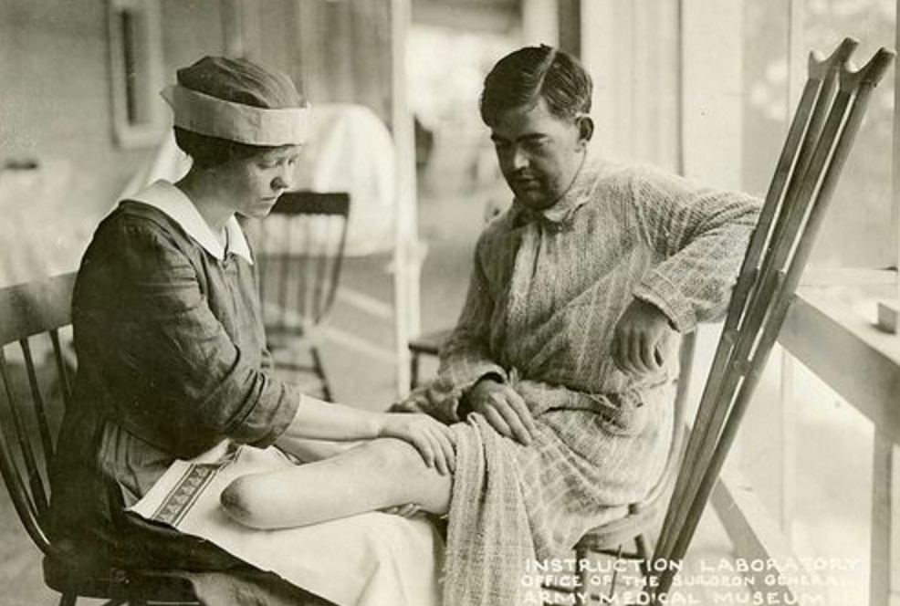Reconstruction Aide with solider (Occupational Therapy origins)