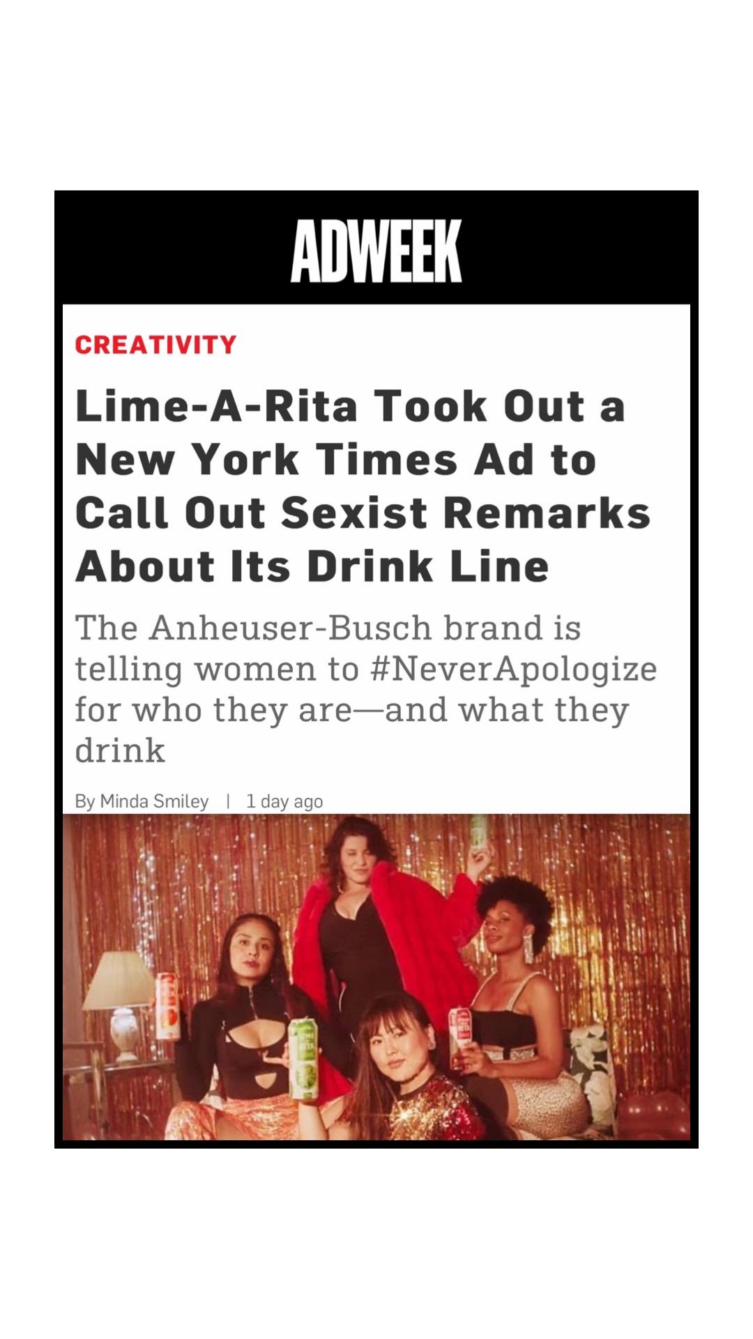 NeverApologizeAdWeek