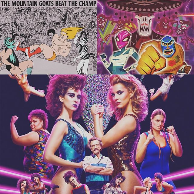 // these are a few of my favorite things 🎶 season 2 of GLOW is out tomorrow! #GLOW #beatthechamp #guacamelee