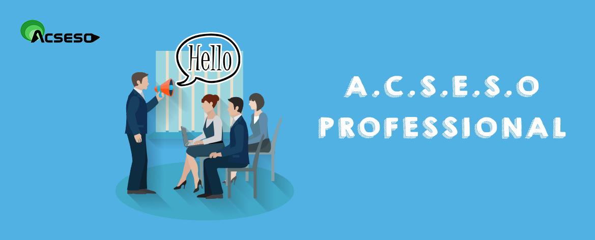 En    A.C.S.E.S.O. Professional    somos expertos en proveer    formación en ingles a medida    a empresas. Ofrecemos clases donde sea mas conveniente para nuestros clientes: en su oficina o en la nuestra, ubicada en Telde.